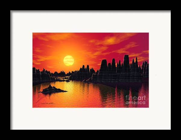 Lynette Cook Framed Print featuring the painting Terrestrial Planet At 55 Cancri by Lynette Cook