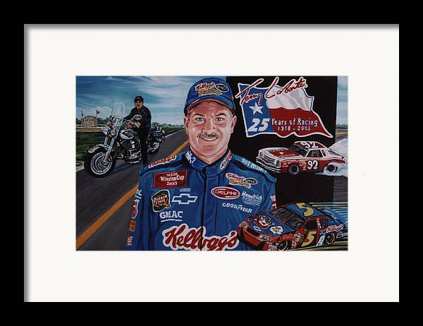 Portrait Framed Print featuring the painting Terry Labonte by Diann Baggett