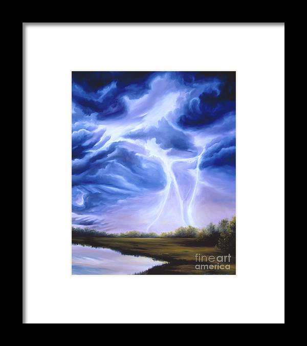 Marsh Framed Print featuring the painting Tesla by James Christopher Hill
