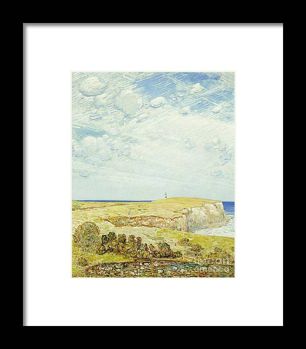 Montauk Framed Print featuring the painting Montauk Point, 1922 by Childe Hassam