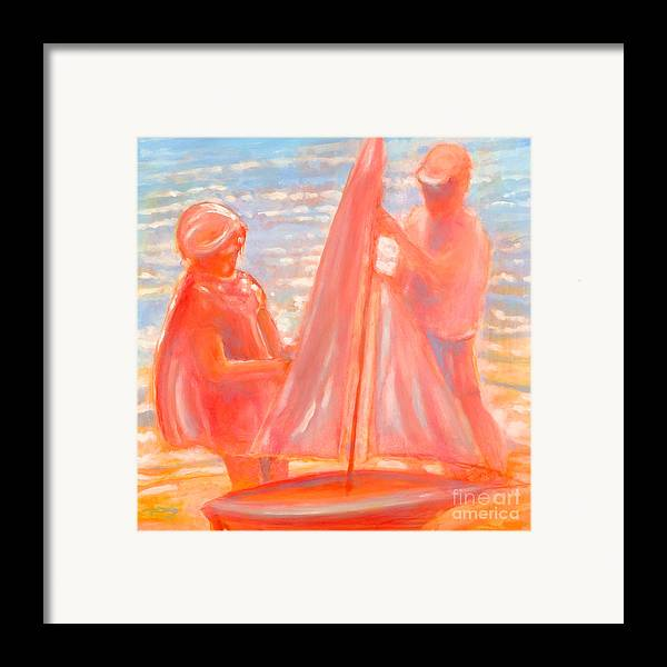 Beach Framed Print featuring the painting Test Launch by Kip Decker