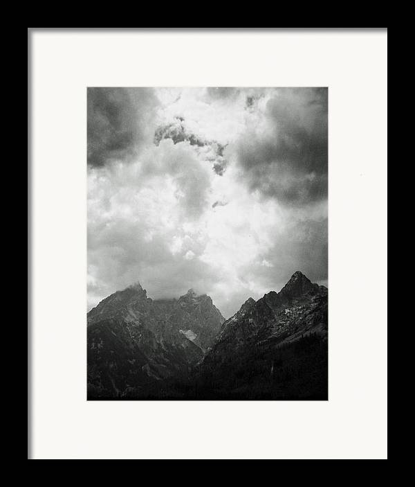Landscape Framed Print featuring the photograph Teton Sky by Allan McConnell