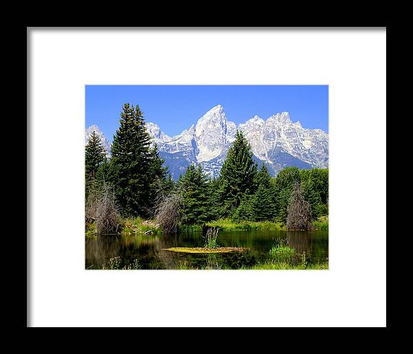 Grand Teton National Park Framed Print featuring the photograph Tetons by Marty Koch