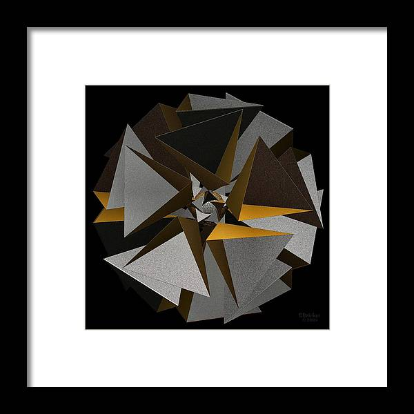 Tetrastar Framed Print featuring the digital art Tetrastar by Scott Bricker