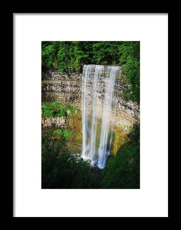 Waterfall Framed Print featuring the photograph Tew's Waterfall by Andriy Zolotoiy