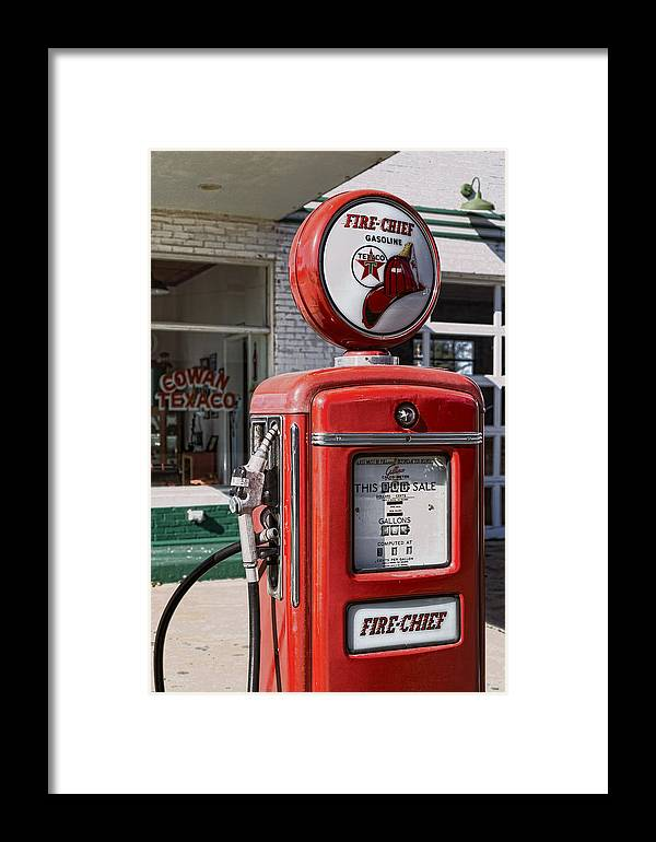 Texaco Framed Print featuring the photograph Texaco Fire-chief #1 by Stephen Stookey