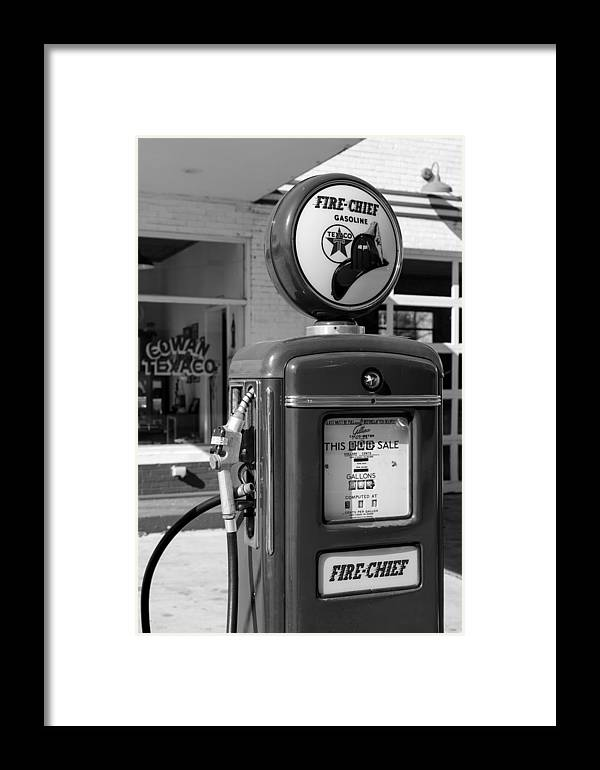 Texaco Framed Print featuring the photograph Texaco Fire-chief #3 by Stephen Stookey