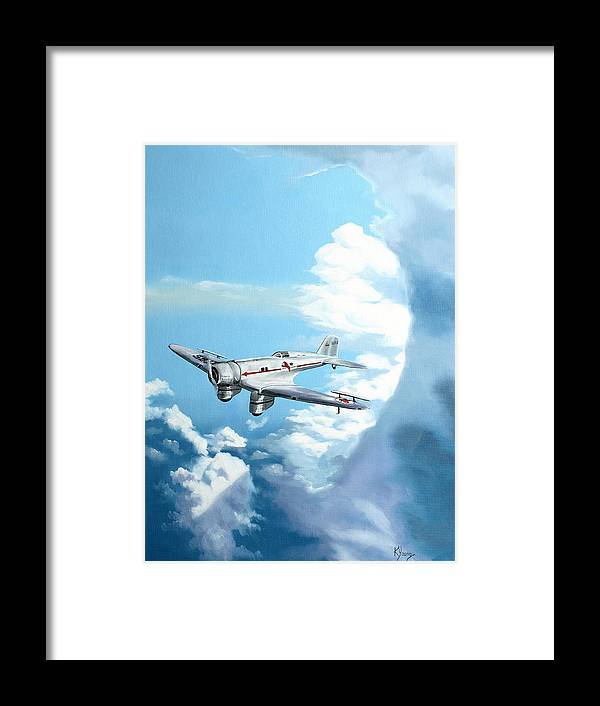 Transportation Framed Print featuring the painting Texaco Sky Chief by Kenneth Young