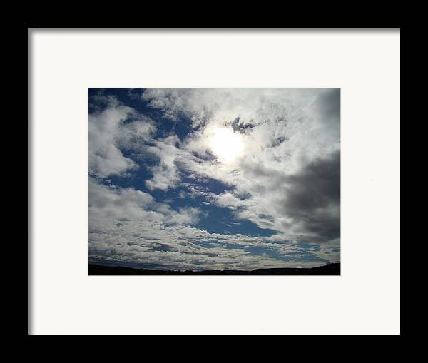 Sky Framed Print featuring the photograph Texas Blue Sky Two by Ana Villaronga