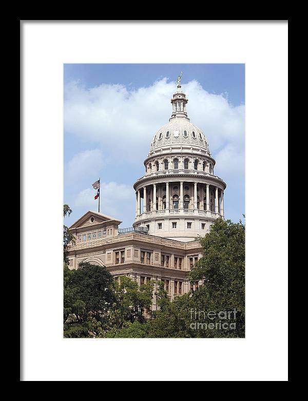 Capital Framed Print featuring the photograph Texas Capitol by Jeannie Burleson