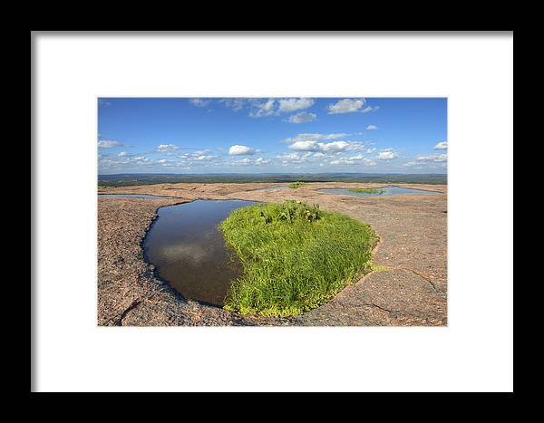 Texas Hill Country Framed Print featuring the photograph Texas Hill Country Enchanted Rock Zen Pools 2 by Rob Greebon