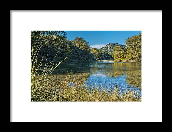 Texas Hill Country Framed Print featuring the photograph Texas Hill Country - The Frio River by Andre Babiak