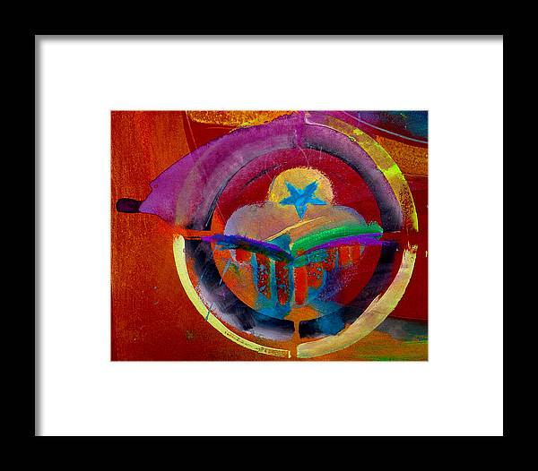 Button Framed Print featuring the painting Texicana by Charles Stuart