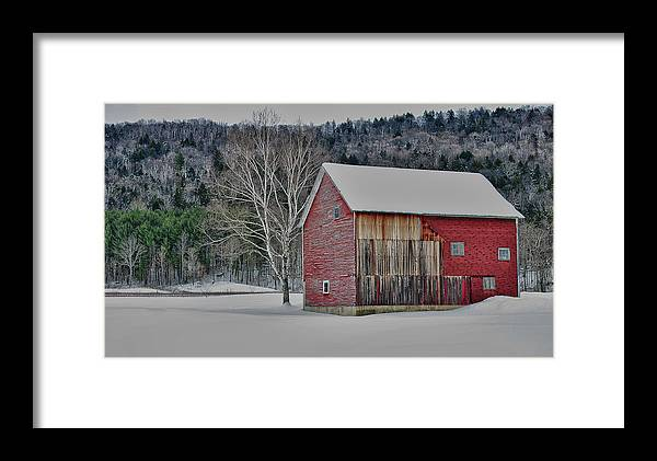 Barn Framed Print featuring the photograph Textured Barn by Nancy Marshall