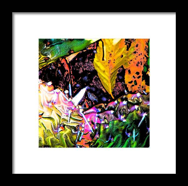 Abstract Framed Print featuring the digital art Textures by Lenore Senior