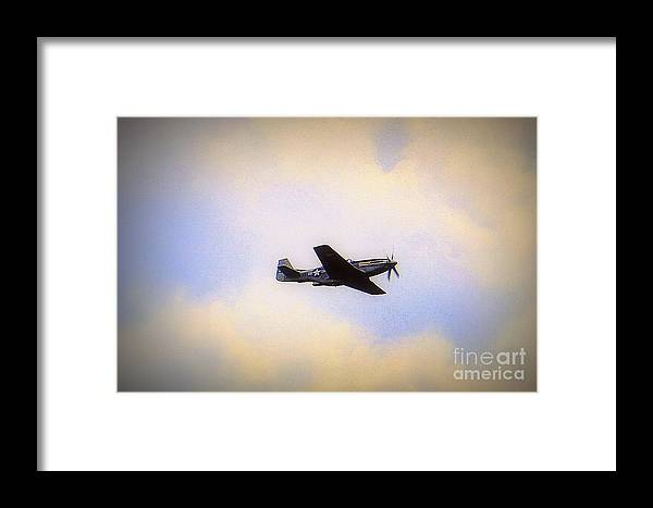 Wwii Vintage Aircraft Tf-5d Mustang Framed Print featuring the photograph Tf-5d Mustang by Len-Stanley Yesh