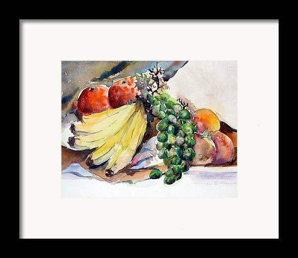 Fruit Framed Print featuring the painting Thanksgiving by Mindy Newman