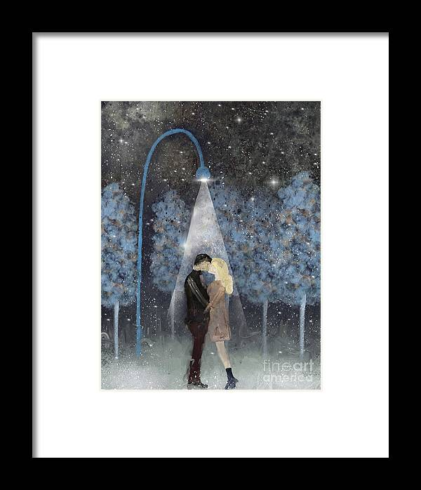 Love Framed Print featuring the painting That Magic Moment by Bri Buckley