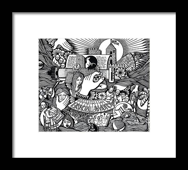 Drawing Framed Print featuring the drawing That We Die Is What Living Means by Jose Alberto Gomes Pereira