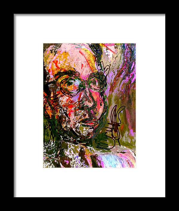 Portrait Framed Print featuring the painting That Which Is Without - That Which Within by Noredin Morgan