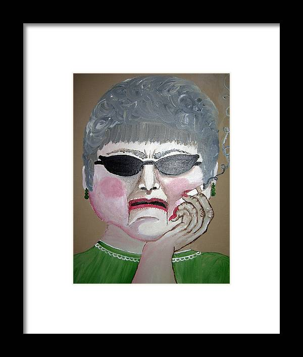 Old Woman Framed Print featuring the painting That Woman by Sharon Supplee