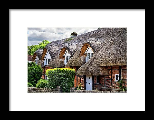 Cottage Framed Print featuring the photograph Thatched Cottages In Chawton 2 by Shirley Mitchell