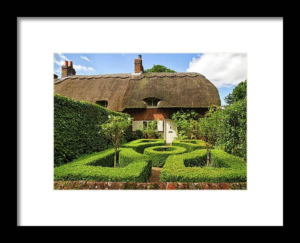 Cottage Framed Print featuring the photograph Thatched Cottages In Chawton 7 by Shirley Mitchell