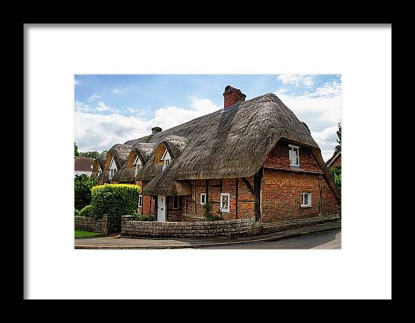 Cottage Framed Print featuring the photograph Thatched Cottages In Chawton by Shirley Mitchell