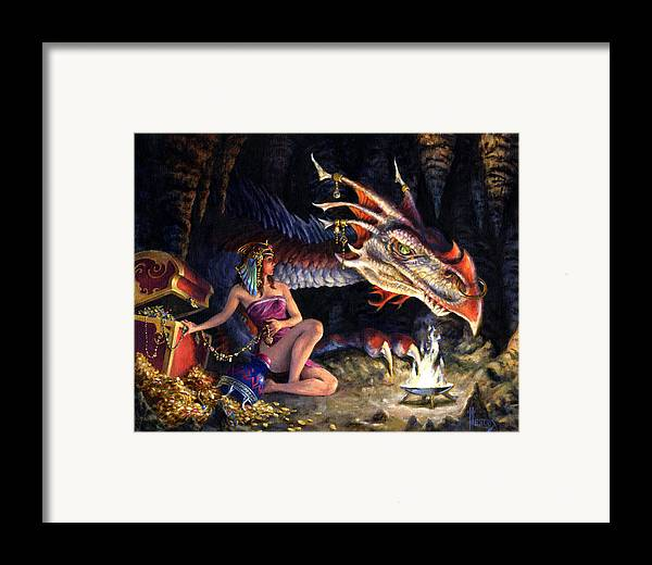 Fantasy Framed Print featuring the painting That's Mine by Richard Hescox