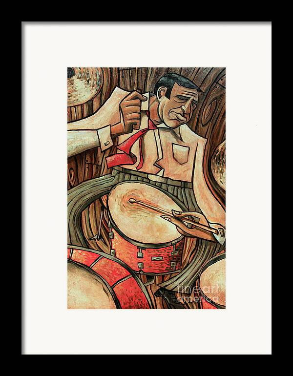 Buddy Rich Framed Print featuring the painting That's Rich by Sean Hagan