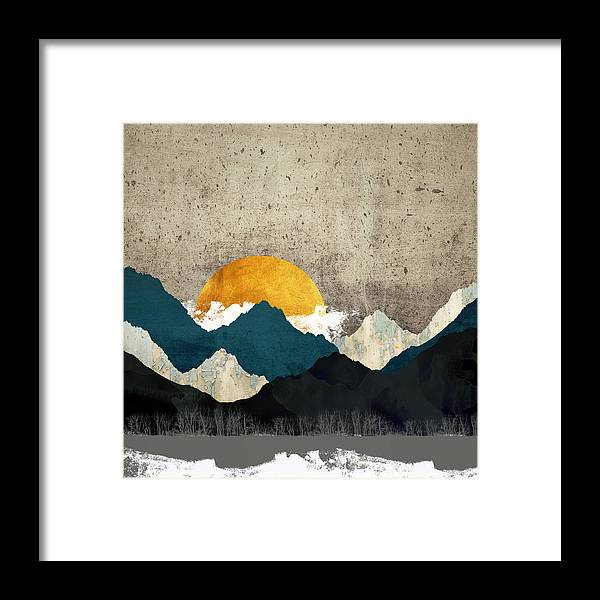 Thaw Framed Print featuring the digital art Thaw by Katherine Smit