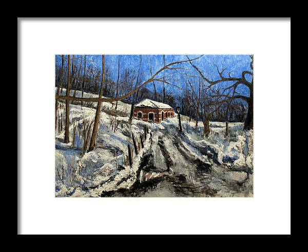Landscape Framed Print featuring the painting Thaw by Vladimir Kezerashvili