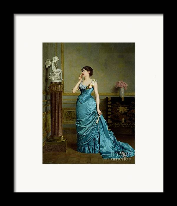 Framed Print featuring the painting The Accomplice by Auguste Maurice Cabuzel