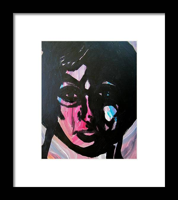 Abstract Framed Print featuring the painting The Administrator by Judith Redman