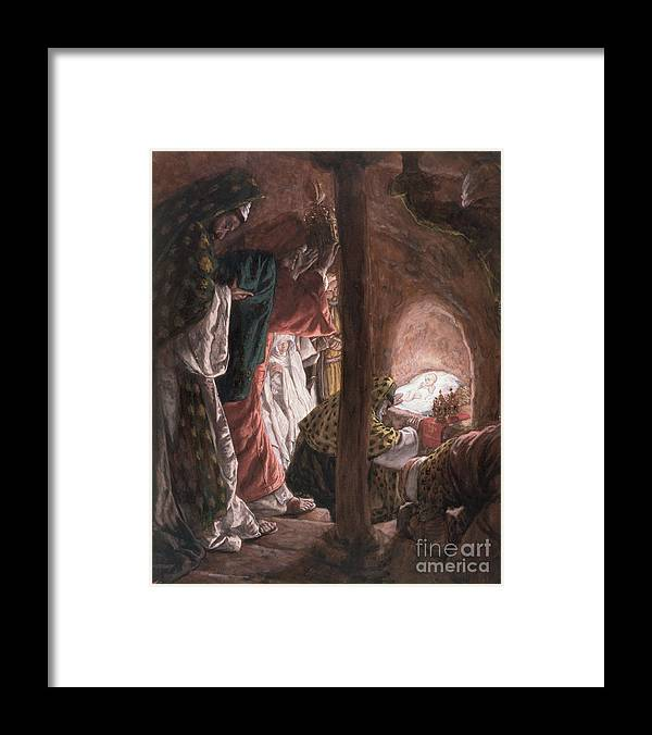 Nativity Framed Print featuring the painting The Adoration Of The Wise Men by Tissot