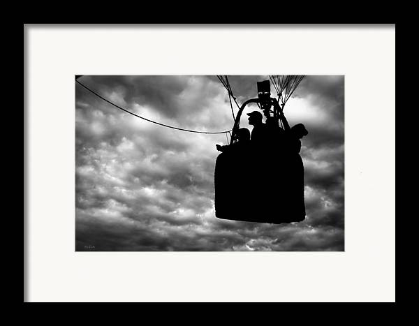 Silhouette Framed Print featuring the photograph The Adventure Begins Hot Air Balloon by Bob Orsillo