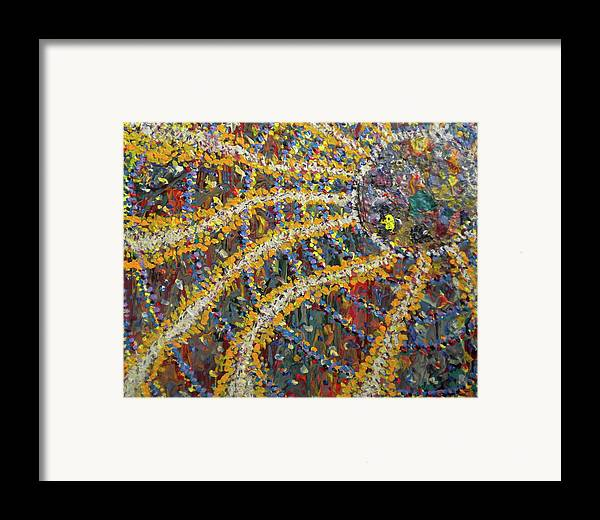 Aubade Framed Print featuring the painting The African Sun by Dylan Chambers