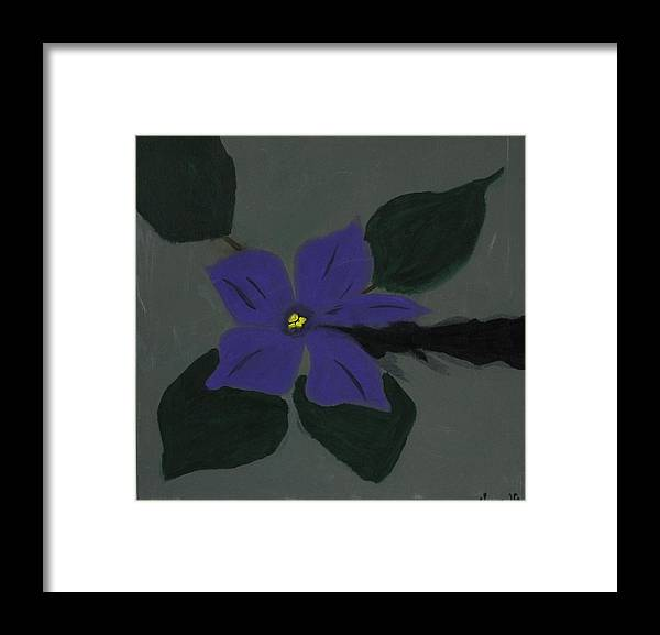 Hope Framed Print featuring the painting The African Violet through the cracks by Sonye Locksmith