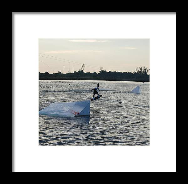 Water Framed Print featuring the photograph The After Jump by Rob Hans