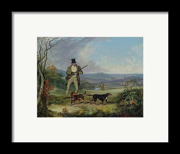 The Framed Print featuring the painting The Afternoon Shoot  by Philip Reinagle
