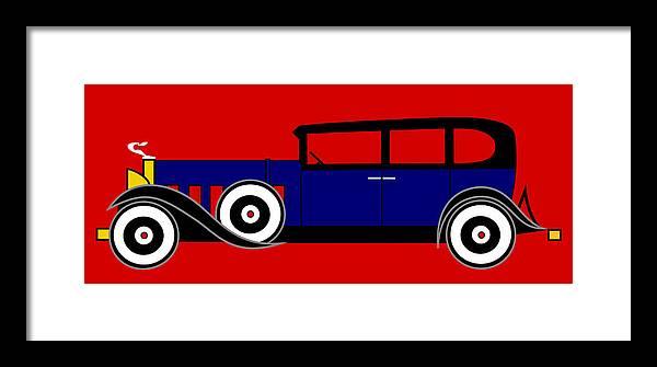 Al Capone Framed Print featuring the digital art The Al Capone Cadillac V16 From 1930 by Asbjorn Lonvig