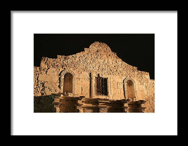 Alamo Framed Print featuring the photograph The Alamo On A Cloudless Night by Brian M Lumley
