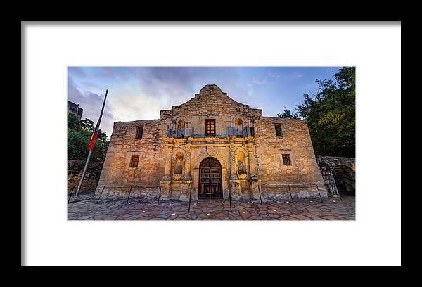 The Alamo Framed Print featuring the photograph The Alamo - San Antonio Texas by Gregory Ballos