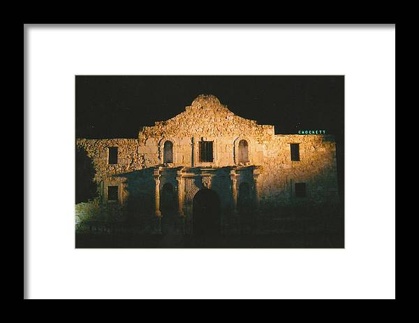 Photo Framed Print featuring the photograph The Alamo by Tara Kearce
