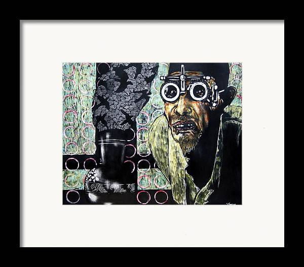 Scratchboard Framed Print featuring the mixed media The Alchemist by Chester Elmore