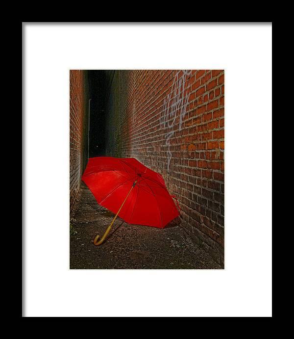 Umbrella Framed Print featuring the photograph The Alley by Robert Och