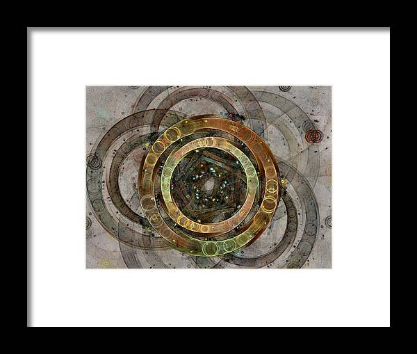 Circles Framed Print featuring the digital art The Almagest - Homage To Ptolemy - Fractal Art by NirvanaBlues