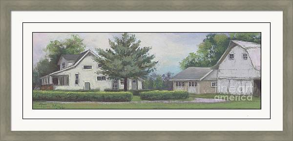 The Amerine Farm Rushsylvania Ohio Framed Print featuring the painting The Amerine Farm by Terri Meyer