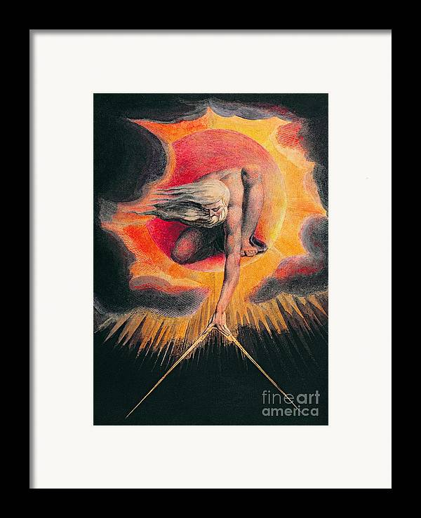 The Framed Print featuring the painting The Ancient Of Days by William Blake