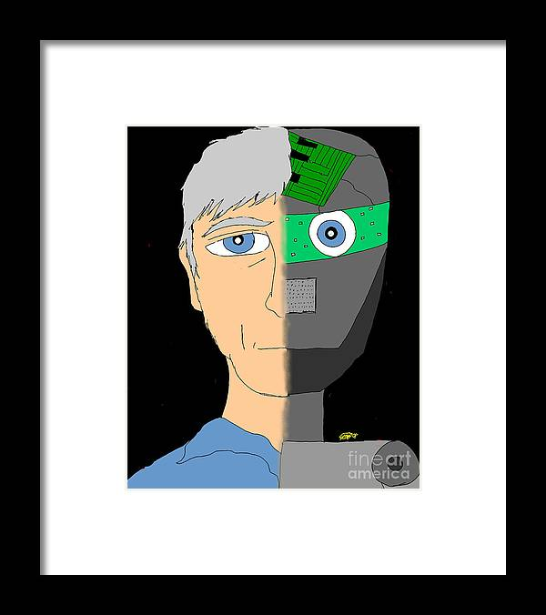Man Framed Print featuring the digital art The Android- Douglas Kerrigan by Karli Martin
